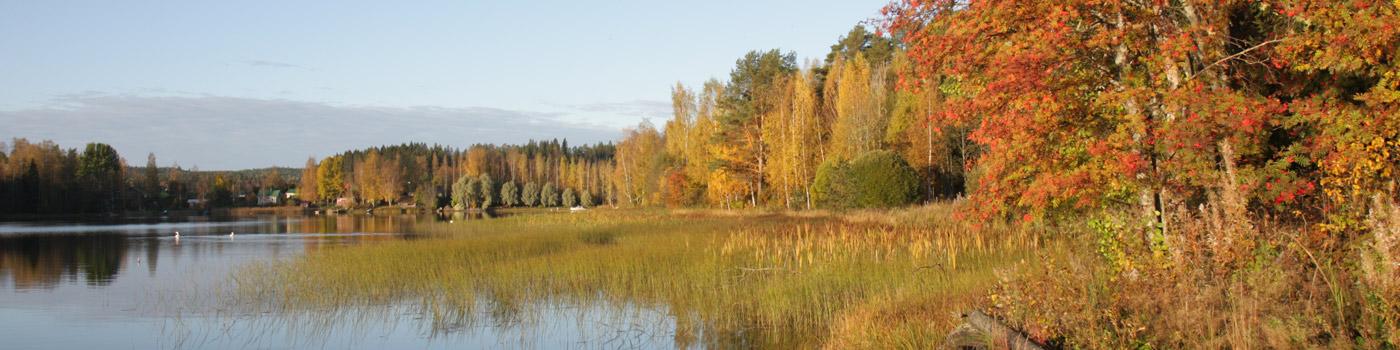 Syksyinen järvimaisema